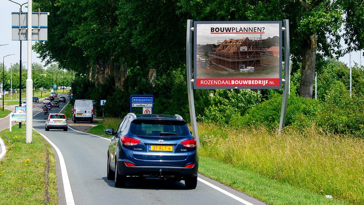 Adverteren in Alblasserdam - Edisonweg - thv sportvelden