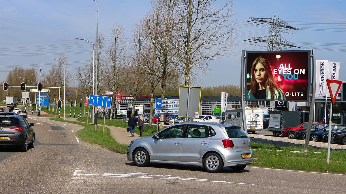 Adverteren in Alblasserdam - Edisonweg - thv tankstation Total