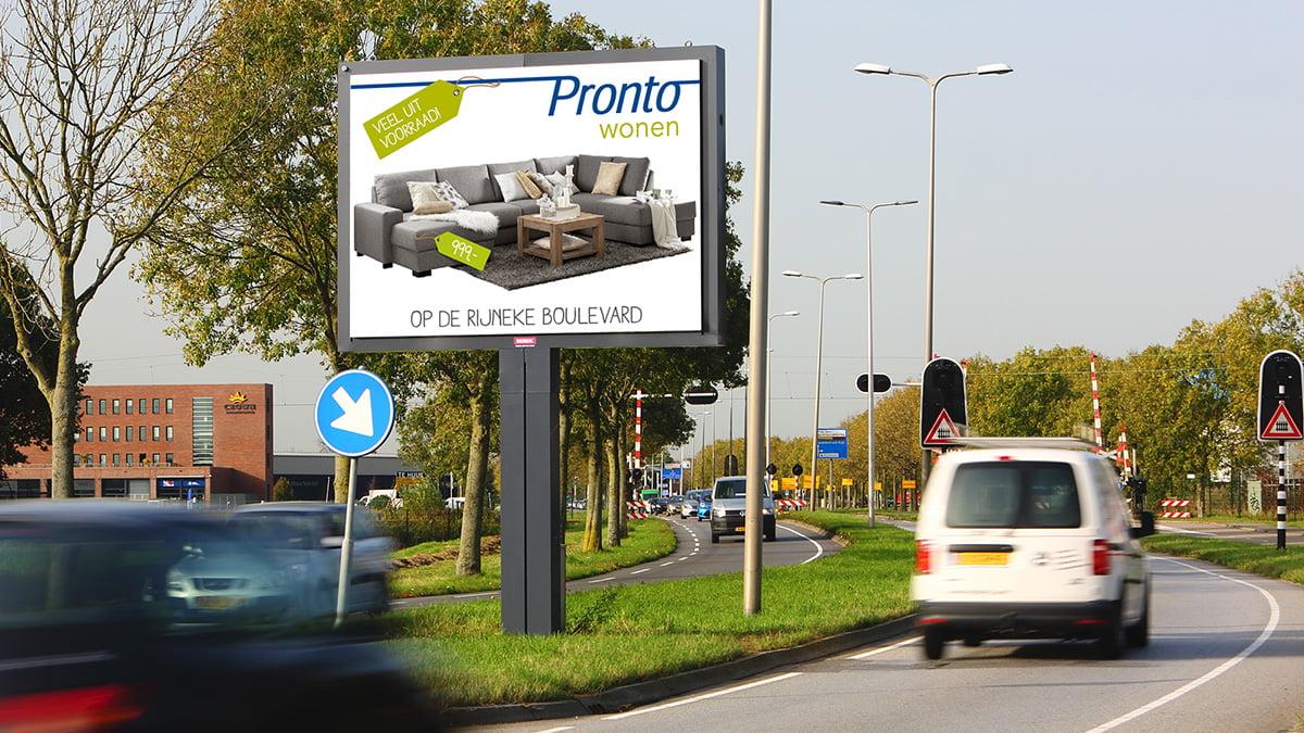 Adverteren in Alphen - Leidsche Schouw - inkomend verkeer