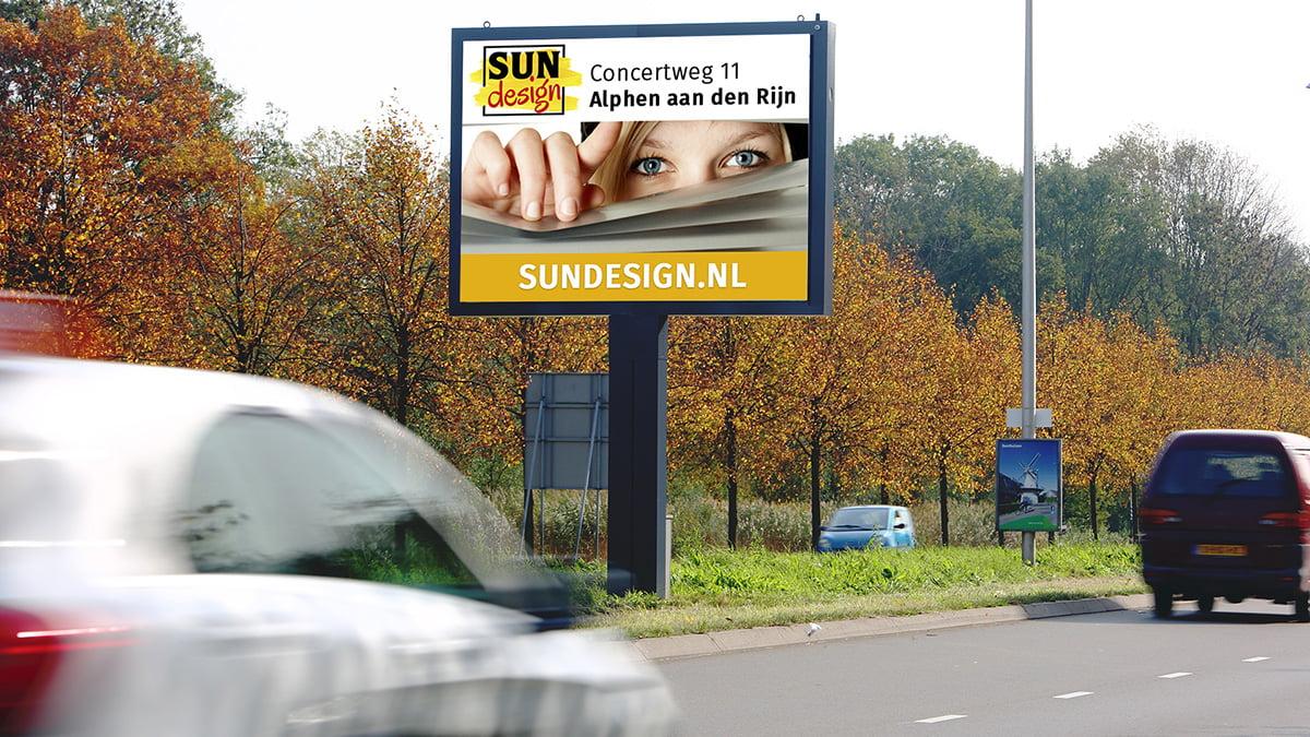 Adverteren in Alphen - Oranjenassausingel - uitgaand verkeer