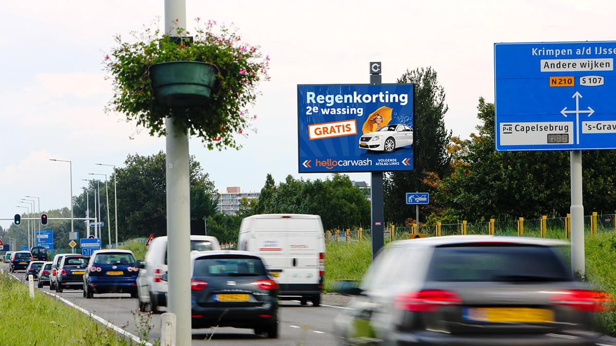 Adverteren in Capelle - Abram van Rijckevorselweg - inkomend verkeer