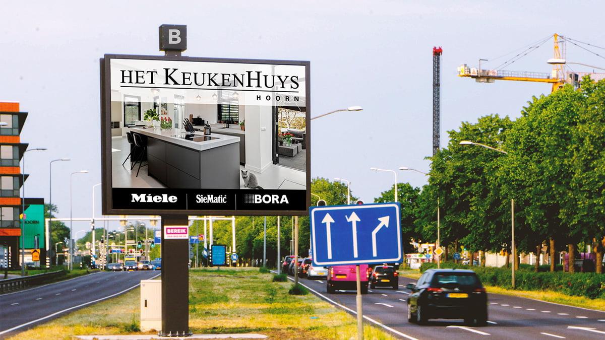 Adverteren in Hoorn - Provincialeweg 1 - Inkomend verkeer