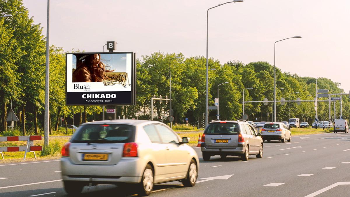 Adverteren in Hoorn - provincialeweg 2 - inkomend verkeer