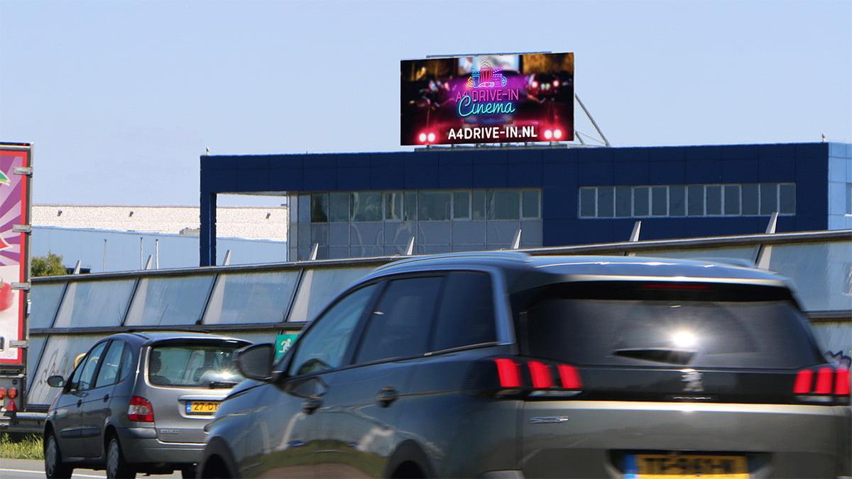 Zichtbaarheid langs de A4 - Roelofarendsveen - snelwegreclame