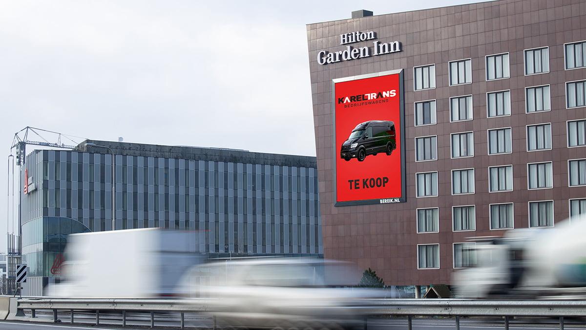 Adverteren langs de A44 - Hilton Hotel