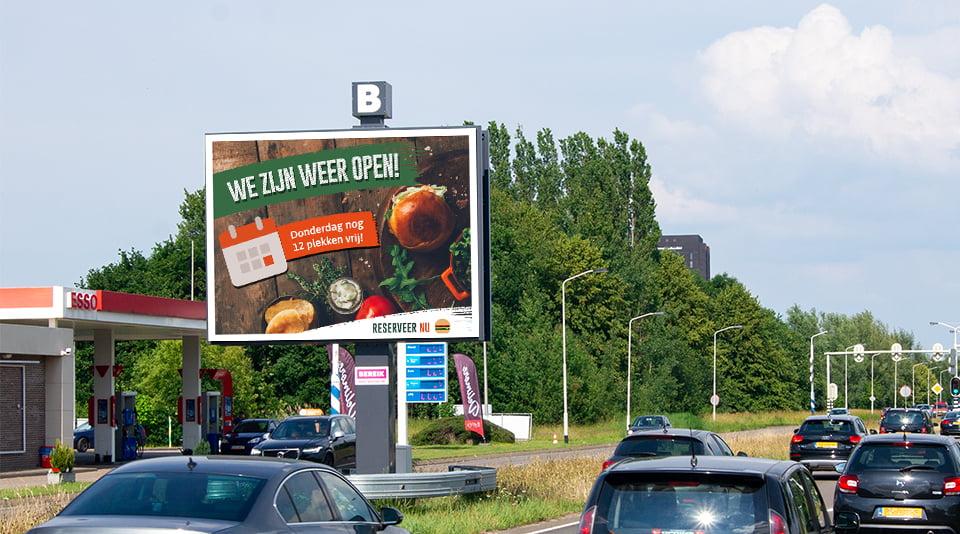 Data gedreven campane op de digitale billboards van Bereik