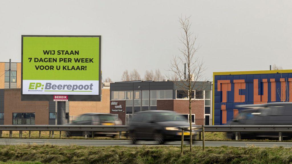 Nieuwe billboards in Hoorn