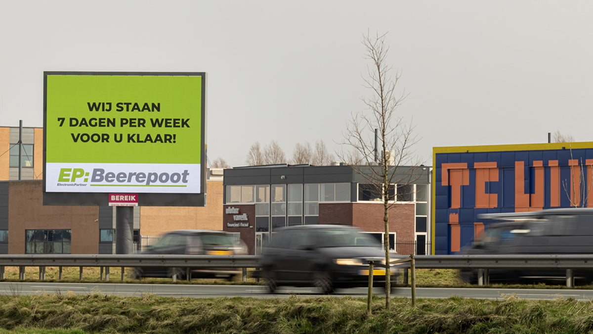 Extra digitale billboards in Hoorn