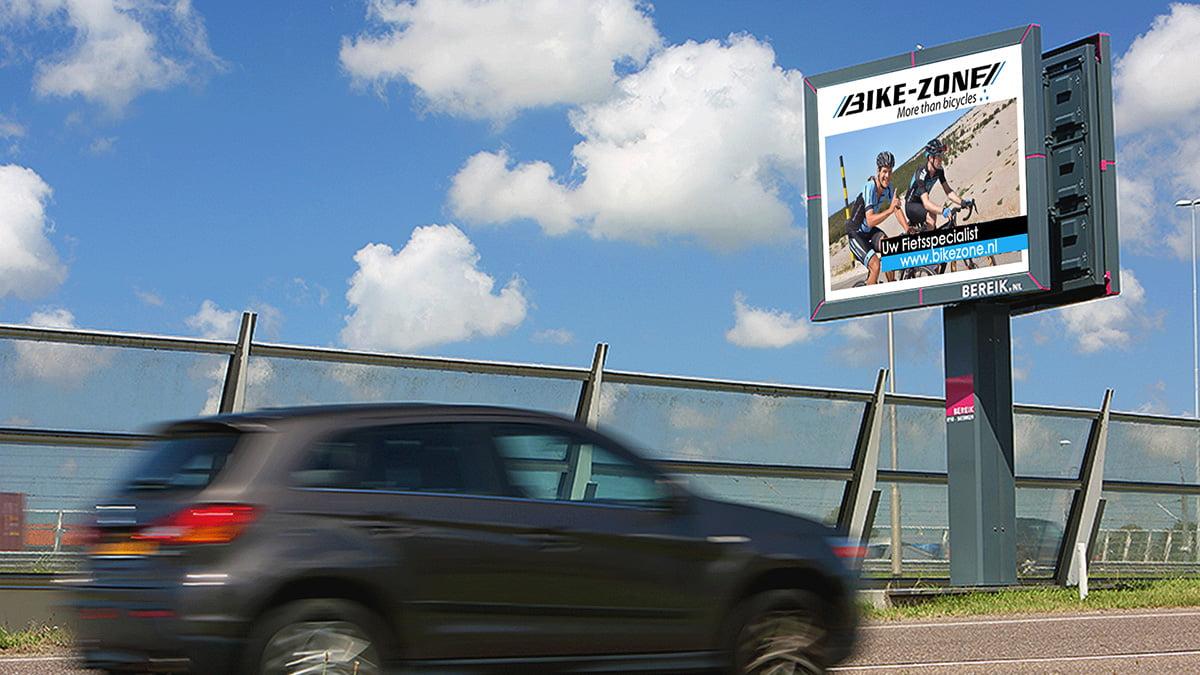 Adverteren in Roelofarendsveen - Alkemadelaan - inkomend verkeer