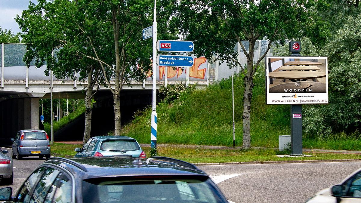 Adverteren in Roosendaal - Zuidpoort Oprit