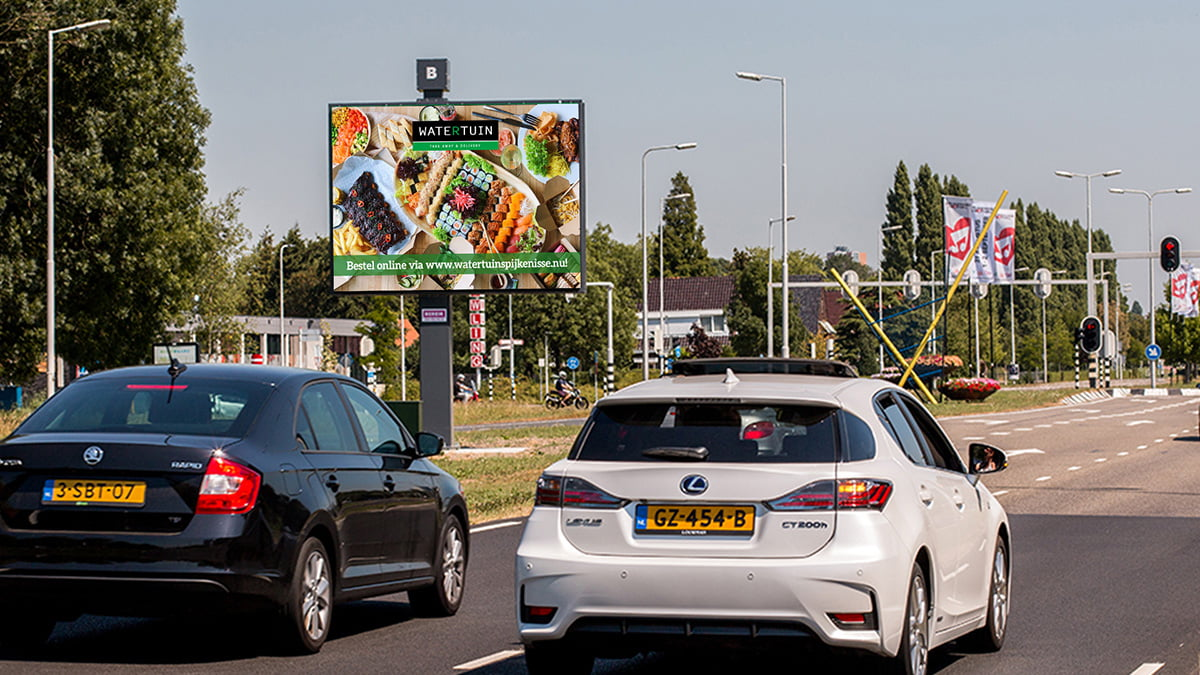 Adverteren in Spijkenisse - Groene Kruisweg - zichtbaarheid