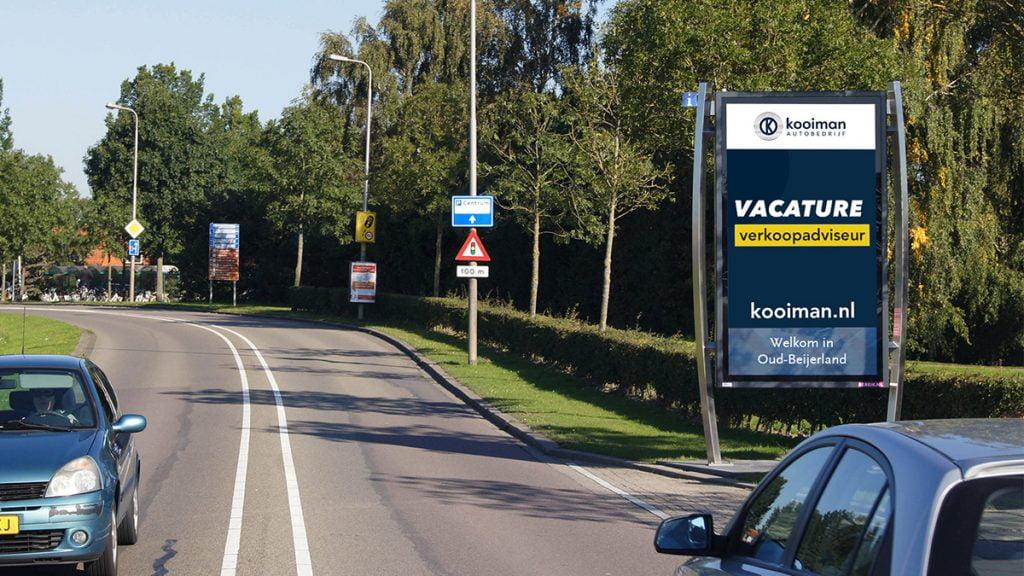 Adverteren in Oud-Berijerland - zichtbaar langs de Langeweg