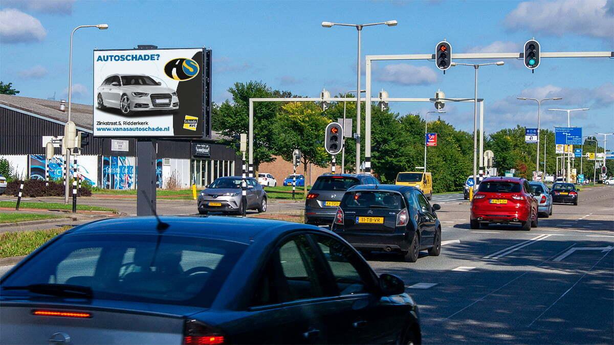 Bereik plaats vier nieuwe digitale billboards in Ridderkerk